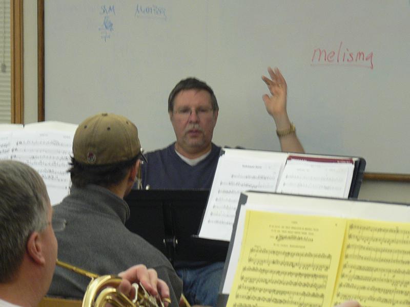 Gary leading rehearsal
